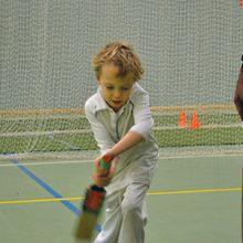 Student preparing to bat
